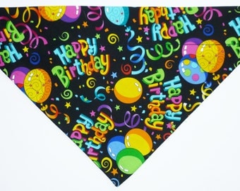 Happy birthday dog bandana slides over the collar