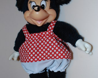 """Minnie Mouse Walt Disney Productions Knickerbocker Applause Yellow Plastic Shoes 10"""""""