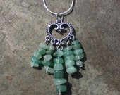 Green Aventurine Heart Chakra Necklace to Manifest Money, Friendship, and Boost Self-confidence
