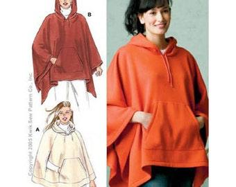 OUT OF PRINT Sewing Pattern - Misses Pattern, Ponchos Patterns, Kwik Sew #K3305