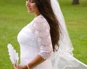 Cascade Satin Ribbon Wedding Veil