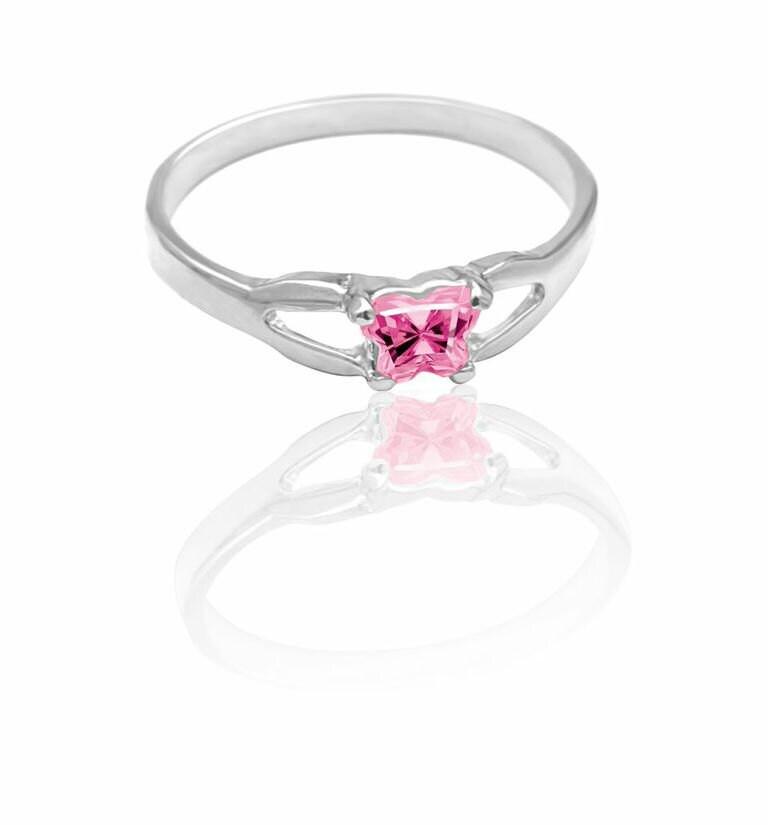 birthstone baby ring sterling silver ring sterling