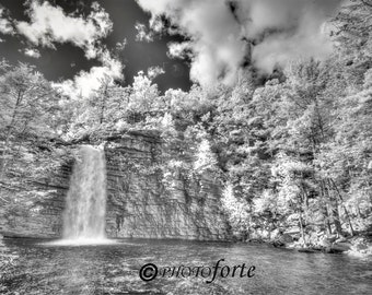 """Fine Art Infrared Photograph, """"Awosting Falls"""",  New Paltz, NY"""