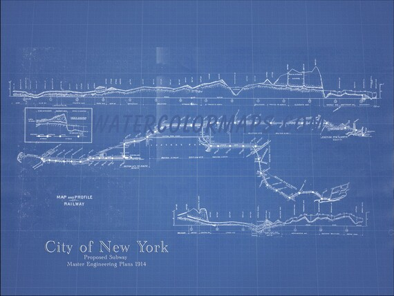 New york subway map new york map subway map blueprint map like this item malvernweather Image collections