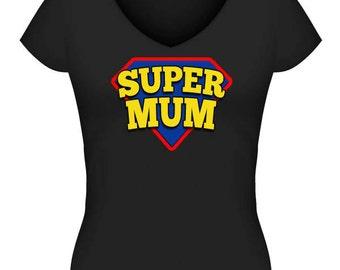 Supermum Tshirt or Singlet #3 - Black