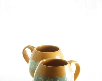 Set of mugs from Lindelse Ceramic, Denmark.
