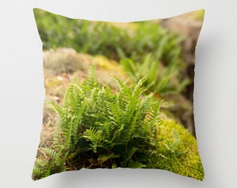 Boundary Waters Pillow Cover - Fern Pillow Cover - Green Pillow - Nature Photo Pillow - Nature Photography - Nature Home Decor