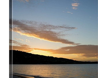 Large Canvas Sunrise, Canvas Gallery Wrap, Sunrise Photography, Tropical Ocean Print, Ocean Canvas Art, Large Wall Art, Beach Sunrise