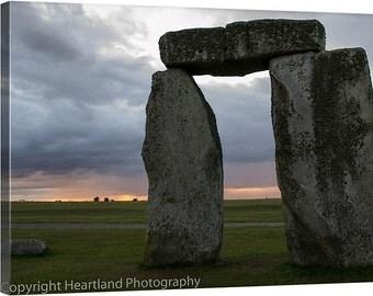 Large Canvas Print, Stonehenge Canvas, Sunset Photo, UK Landscape, British Monument, Travel Photography, Large Photo Canvas, Large Wall Art