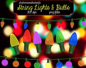 Single String Lights Clip Art