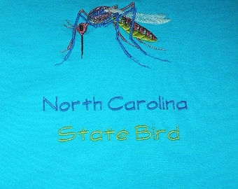 Men's Mosquito Tee shirt or sweatshirt with embroidery from Topstitch Designs by Rosemary