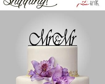 Mr & Mr Cake Topper Gay Wedding Cake Topper