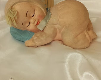 Adorable Sleeping Baby Bank