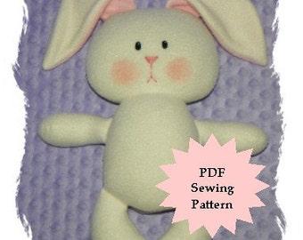 Bunny Plushie PDF Sewing Pattern -  Softie, Plushie, Stuffed Animal Toy Pattern - Instant Download, DIY