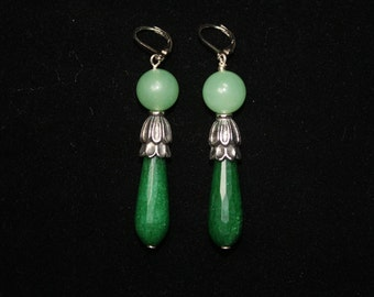 Green Empress Blossom Jade Earrings.