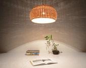 Large Bamboo and Wood basket pendant lamp - ceiling lamp - hanging lamp - lamp set - bamboo and wood - modern lighting - lighting - home