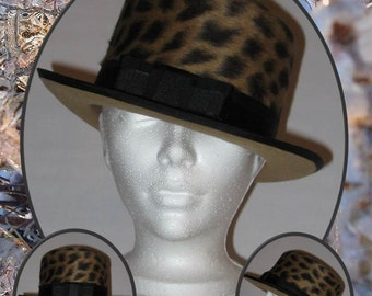 SPECIAL! Top hat Leopard new price!