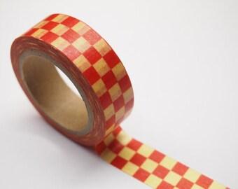 Washi Tape -  checked pattern  (10M) P62