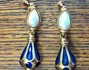 1960s Enamel Earrings