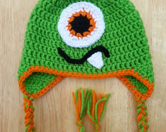 Crochet Monster Hat - Custom Made - Babies/Toddlers/Children/Youth/Teens/Adults