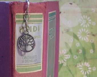Silver Toned Metal Dangle Bookmark - Tree of Life