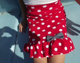 PDF Polka Dot Skirt Pattern,Girls Skirt Pattern, Ruffle Skirt Pattern, Skirt sewing pattern, Easy skirt pattern
