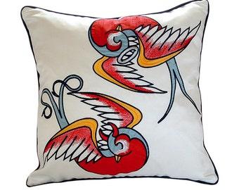 Swallow Tattoo Cushion