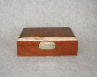 Mahogany Box with Teak Top, Oak Border and Sapele Bottom