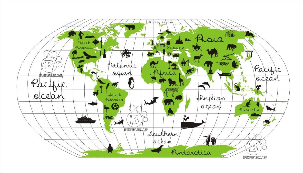 Digital world map with region symbols printable as a poster or digital world map with region symbols printable as a poster or wall mural for nursery gumiabroncs Gallery