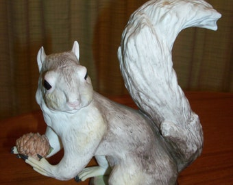 Vintage Cybis Porcelain  'Mr. Fluffy Tail' Squirrel Holding Pinecone Figurine #630