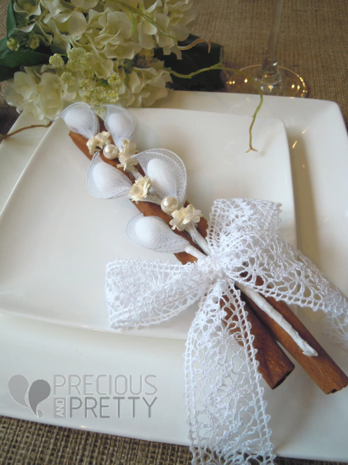 rustic wedding favors vintage lace ribbon by preciousandprettygr