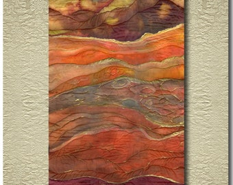 Desert - Original painted and stitched Silk Scroll
