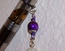 Ecigarette ecig ego vapor charm dark purple Crystal ball
