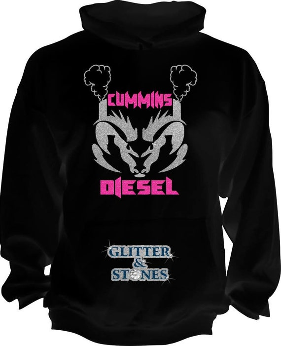Cummins Diesel Glitter Hoodie By Glitternstones On Etsy