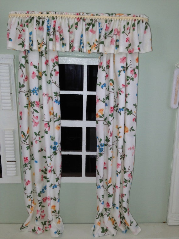 English country house inspired floral full length curtains for English floral curtains