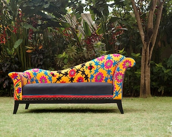 SOLD. Flowers Charm Sofa