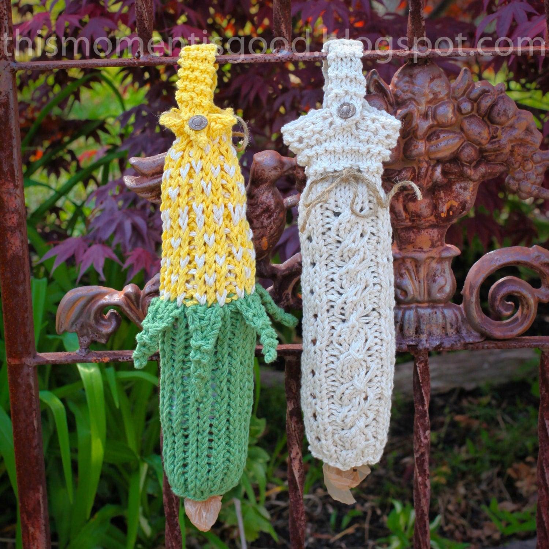 Free Knitting Pattern Grocery Bag Holder : Loom Knit Bag Holder PATTERNS Loom Knit Bag Keepers Plastic