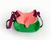 Animal bag, cat shape bag, fox cross body cat messenger bag, meow bag, Cat bag, Fox bag