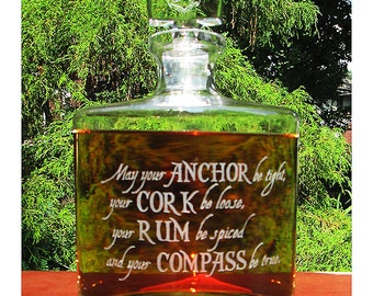 Personalized Whiskey Decanter, Engraved Whiskey Decanter, Crystal Whiskey Decanter, Custom Decanter, Custom Logo, Whitney Crystal Decanter,