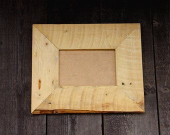 Rustic Wooden Frame. Made from Reclaimed Wood