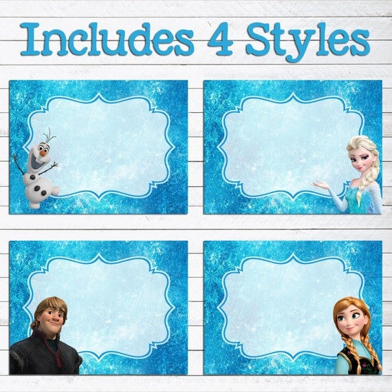 Insane image pertaining to frozen printable labels