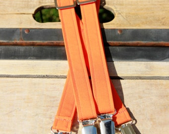 Toddler Suspenders - Toddler Boy - Birthday Suspenders - Photography - Weddings - Orange