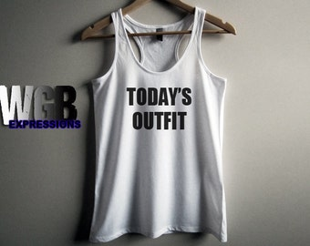 Today's Outfit  womans tank top white