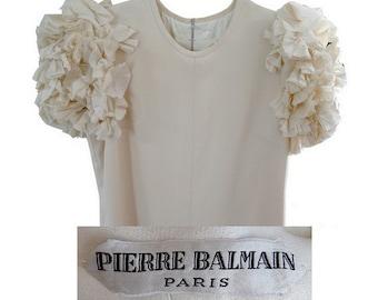 Pierre BALMAIN 1960s silk  COUTURE  dress // PARIS pierre balmain No 152 096 // Dresses