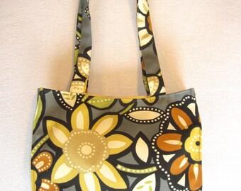 Shoulder Bag in Graphite Contemporary Floral Print
