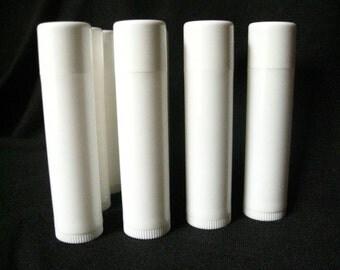 100 White Lip Balm Tubes with caps, lip balm tubes, lip balm supplies, packaging, containers