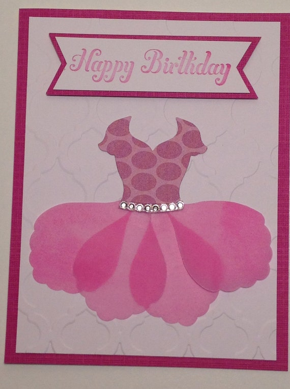 Handmade Birthday Card: Stampin Up Girl Card Ballerina