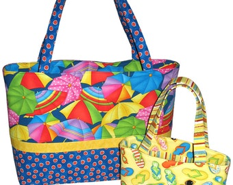 PDF Bag Pattern, Sew Simple Tote Bag in 2 Sizes, Instant Download Digital Bag Pattern