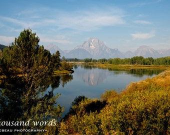 Grand Teton National Park ~ Oxbow Bend - photographic print