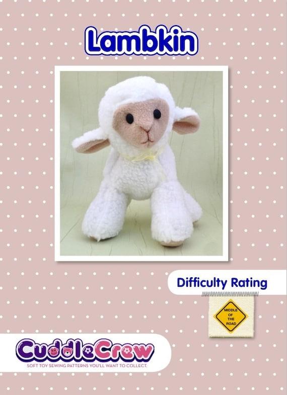 Lamb Soft Toy Sewing Pattern.    Stuffed Animal Sheep Ewe